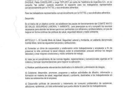 ACTA COMITE MIXTO SALUD SEGURIDAD LABORAL Y AMBIENTE FATTEL TELEFONICA I Septiembre 2019